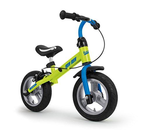 RunRunToys - Bicicleta Runrunbike unisex para niños a partir de 2 años con ruedas antipinchazos y freno, color azul (Herrajes Multimec 5081)