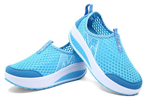 NEWZCERS, Scarpe da atletica leggera donna Blau