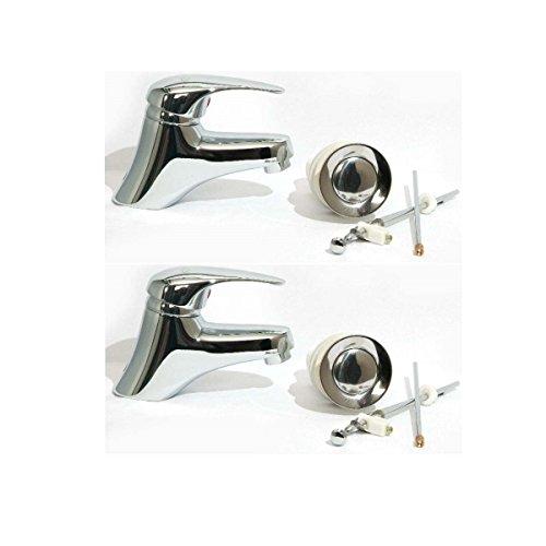 Preisvergleich Produktbild 2x Set Waschtischarmatur Einhebelmischer Mischbatterie Wasserhahn Bad