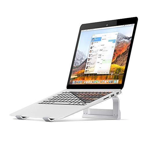 Veramz Laptop Ständer, Aluminium Laptop Stand, Laptopständer für Büro und Haus, Ergonomische Stand für MacBook und Laptops - Silber Aluminium Laptop