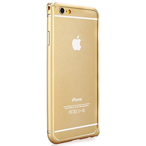 X-Doria Bump Gear Plus TPU and Aluminum Rail Bumper Case for Apple iPhone 6 & iPhone 6s (4.7 Inch) (Silver) Gold