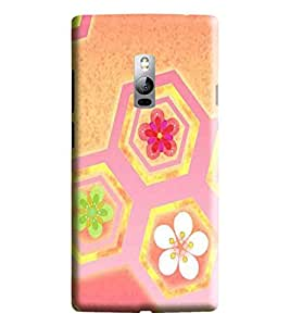 Hi-me Designer Phone Back Case Cover OnePlus 2 :: OnePlus Two :: One Plus 2 ( Cool Pink Flower Pattern )