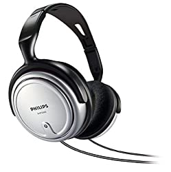 Philips SHP2500 TV Over-Ear Headphone (Silver)