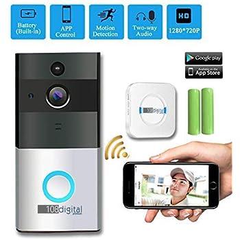 Wireless Video Doorbell Modohe 720 Hd Ip65 Waterproof Hd