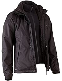 QUECHUA 3-IN-1 ARPENAZ HIKING JACKET BLACK