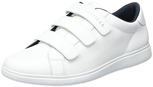 Tommy Hilfiger D2285anny 3a, Scarpe da Ginnastica Basse Uomo Bianco (White)