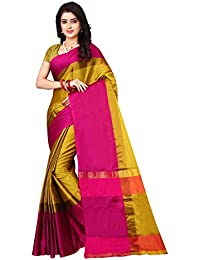 Leriya Fashion Cotton Silk Saree For Women's With Blouse Piece Material (S1124)