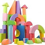 GKPLY Riesiger Schaumstoffblock, Kinder Pädagogisches Spielzeug, Ideale Bausteine Für Bauspielzeug, 50 Verschiedene Formen Und Größen, Wasserdicht, Sicher, Ungiftig