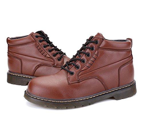 WZGDie neuen High-Top-Stiefel Männer Casual rutschfest Herrenmode Handvernähens Schuhe Masse von Werkzeugen Brown
