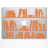 Die Aufkleber Guru 1649-mac-11a-p Bücherregal Bibliothek Aufkleber Vinyl Aufkleber, 27,9cm MacBook Air, Orange