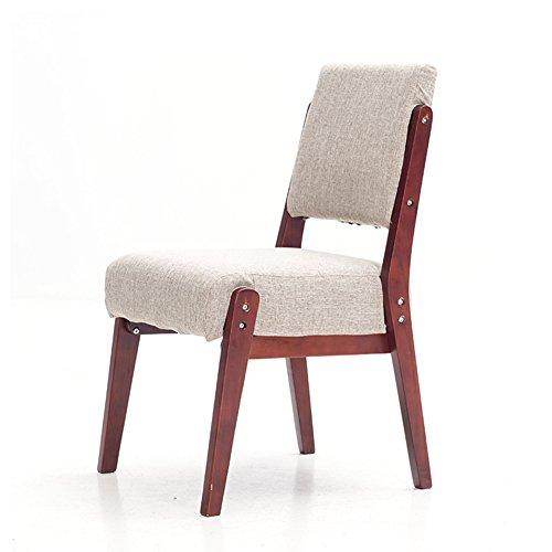 ZXL Sofa Stuhl Büro Schlafzimmer Wohnzimmer Esszimmer Stuhl mit Holzbeinen Tuch Kissen Rot-Braun...