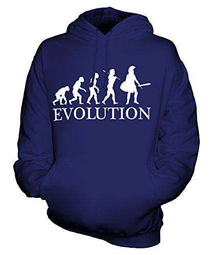 taner Evolution Des Menschen Unisex Herren Damen Kapuzenpullover, Größe Small, Farbe Navy Blau (Blauer Spartaner Kostüm)