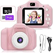 Kids Toy Digital Camera with [ 32 GB Memory Card and Card Reader ] Gifts for Child Boys Girls,Mini Rechargeabl