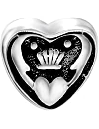 Iris Claddagh Encanto Bead–Plata de ley 925