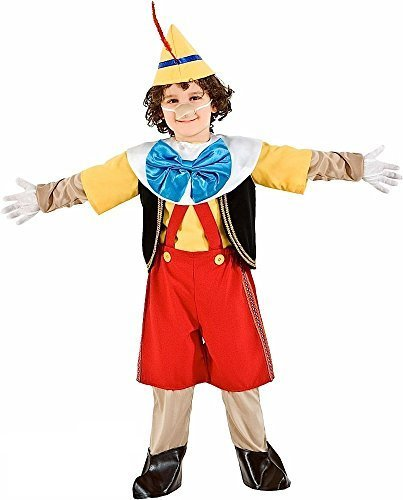 lung Deluxe 9 Piece Jungen Cartoon Film Puppe Halloween Kostüm Kleid Outfit 1-6 Jahre - Gelb, 4 years (Große Halloween-cartoon-filme)