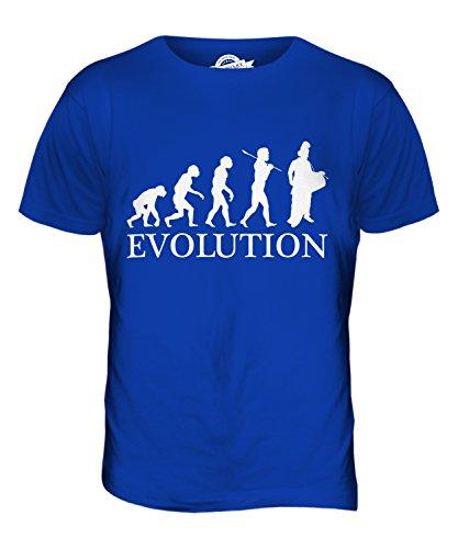 CandyMix Batterista Indiano Evoluzione Umana T-Shirt da Uomo Maglietta Blu Royal