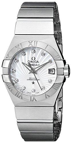 Omega Constellation / orologio donna / quadrante madreperla bianca / cassa e bracciale acciaio
