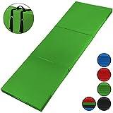 ALPIDEX Klappbare Leichtschaum Turnmatte 180 x 60 x 5 cm RG 18 mit Klettecken 2fach klappbar mit Antirutschboden, Farbe:grün
