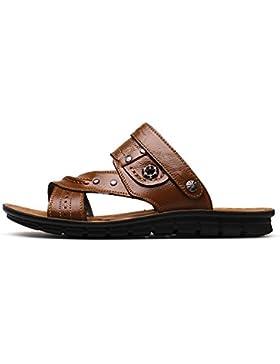 Uomini sandali estate vera pelle