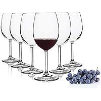 Pasabahce Copas de Vino Tinto Domaine / 440 ML/Set de 6 / Gafas Apto para lavavajillas