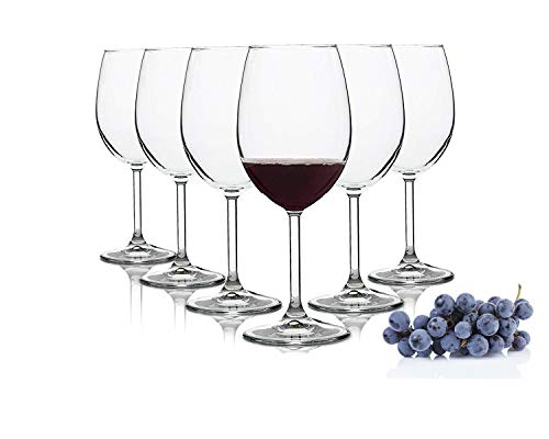 Pasabahce Domaine/Rote Weingläser/Spülmaschinenfest / 6 -teiliges Set/geeignet für bis zu 6 Personen / 440 ml