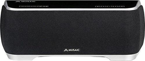 Musaic MP10 - Wireless Smart Speaker for Multi-Room Music Streaming - Black/Silver