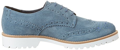 Tamaris 23693, Scarpe Stringate Basse Brogue Donna Blu (Denim 802)