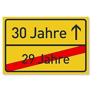 Gentle North 30 Geburtstag Schild für Frauen und Männer – Deko Geschenke Schild zum 30 Geburtstag – 30×20 cm Kunststoff…