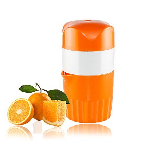 Squeezer Orangensaft-hand (Wolfcam Hand Zitruspresse Entsafter Orangen Manuelle Saftpresse Orange Presse Squeezer mit Behälter und Deckel & Filter)