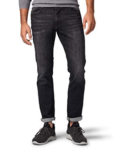 TOM TAILOR Herren Josh Slim Jeans, Schwarz (Black Stone Wash Den 10263), 32W / 32L