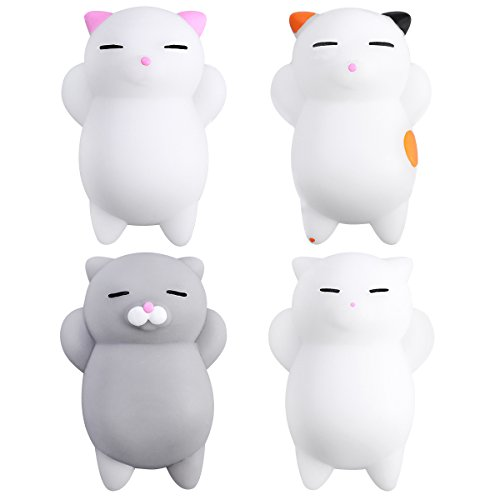 TOYMYTOY 4Pcs Cartoon Slow Rising Toys Mini Cute Kitty Buns Stress Relief Jouet Cadeau
