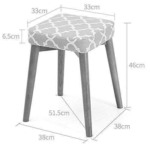 Holz Quadratischen Tisch (JZX Quadratischer Tisch aus massivem Holz, stilvolle kleine Bank,Stil 1,rot)