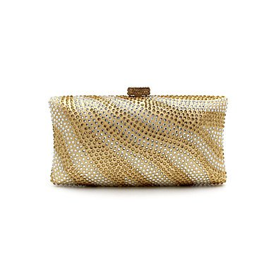 pwne L. In West Woman Fashion Luxus High-Grade Zebra Stripe Heißen Bohren Abend Tasche Gold