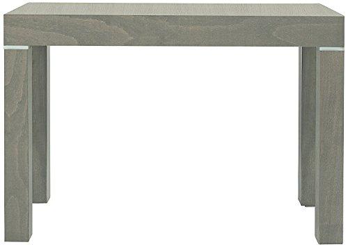 Eglemtek tavolo consolle allungabile, legno nobilitato, tortora, 90x50x75 cm
