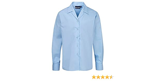 a57940d7598459 L S Twin Pack Rever Collar School Blouses - Style No. 7357  Amazon.co.uk   Clothing