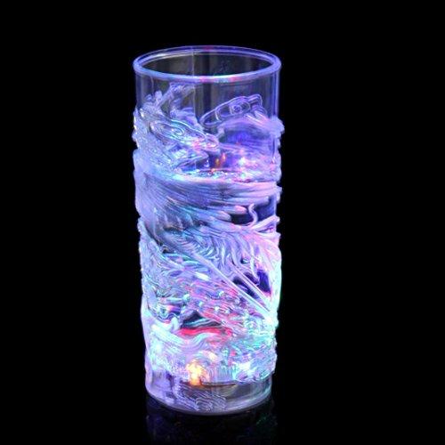 , Distinctive Blinkt Led Weinglas, Leuchten Barware Drink Cup, Drinkware Tumbler Becher Tasse Sensor leuchten, LED glänzend Glas Tasse für Bar Club Night Party (E) ()