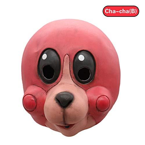 e The Umbrella Academy Hasel Cha-Cha Maske Halloween Karneval Cosplay Helm Kopfbedeckung Kostüm Zubehör ()