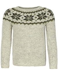 hellgrau Leichter Wollpullover Handgestrickter Damen Pullover Wolle