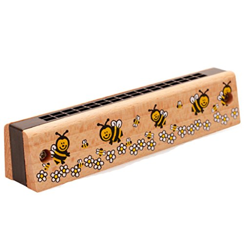 1pc Hölzerne Mundharmonika Instrument Musikalische Pädagogisches Spielzeug Für Kinder Geschenke