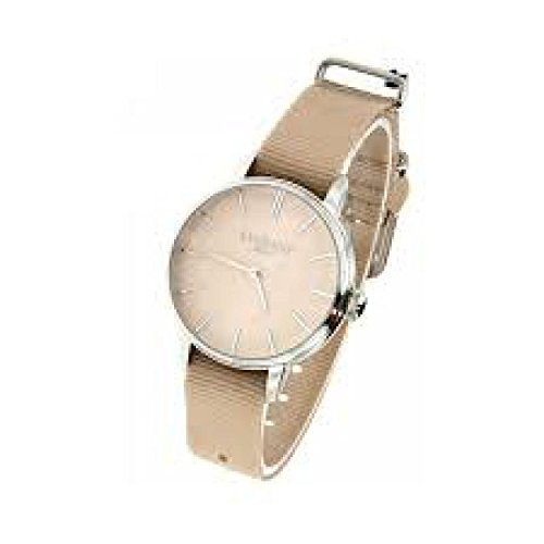 Locman 1960 Clock Quartz Only Time 0253 a10 a-00cinknj (Rechargeable) quandrante Steel Cream Fabric Strap