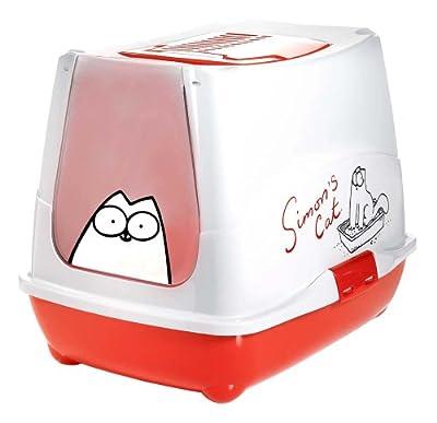 Karlie Simon's Cat 51757 Cat Litter Box 50 cm x 42 cm x 29 cm Red/White