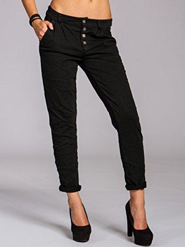 CASPAR KHS027 Pantalon chino en coton Noir