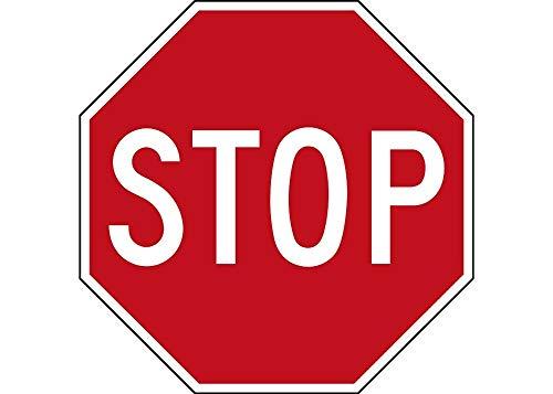 Tiukiu Stop Sign Sticker Auto Car Decal Truck Window Wall Street Road Sign 4 Inch In Width -
