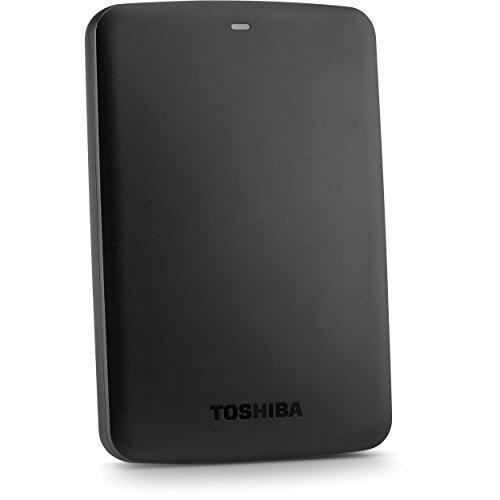 Toshiba Canvio HDTP210AK3AA 1TB External Hard Disk (Grey) Black Price in India