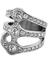 Dyrberg/Kern - Anillo de acero inoxidable con cristal, talla 14 (17,2 mm)