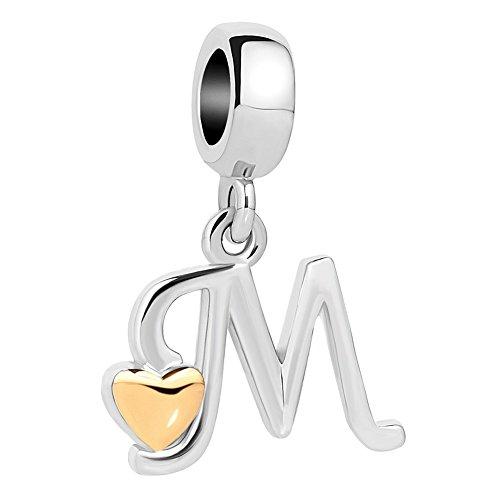 Sug jasmin. charm dorato a forma di lettera dell'alfabeto e cuore per braccialetti e collane e base metal, cod. sjc_dpc_my893_parent