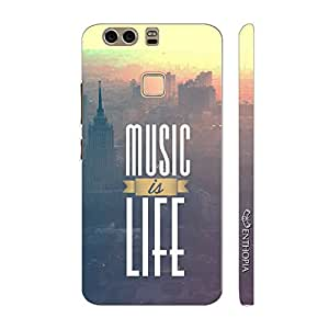 Enthopia Designer Hardshell Case MUSIC IF LIFE IN THE CITY Back Cover for Huawei P9 Plus