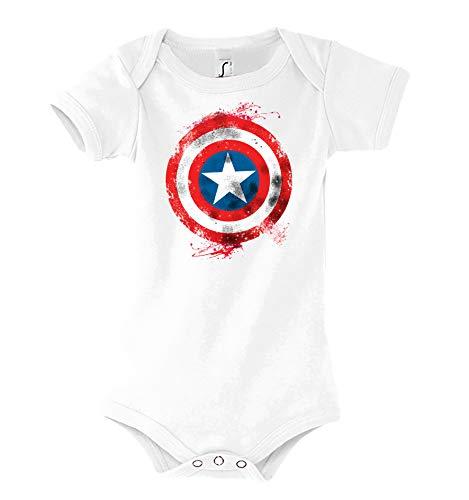 Baby Kurzarm Body Strampler Modell Vintage Captain America 2