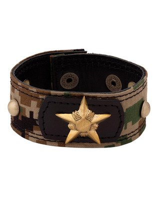 Voylla Dare by Voylla Modern Military Band Bracelet For Men  available at amazon for Rs.390