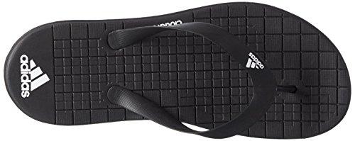 adidas Eezay Cf W, Tongs femme Noir (noir essentiel / blanc Footwear / noir essentiel)